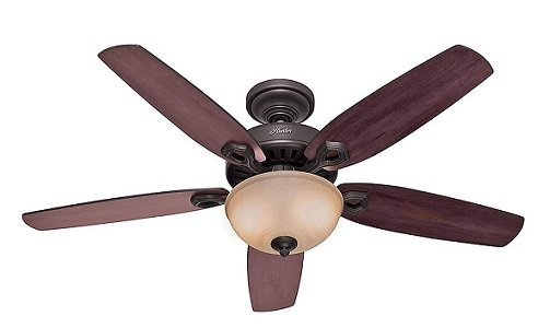 Hunter Deluxe Single Light Ceiling Fan for large rooms