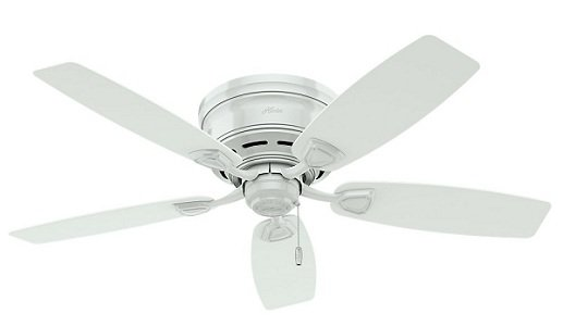 Hunter White Ceiling Fan