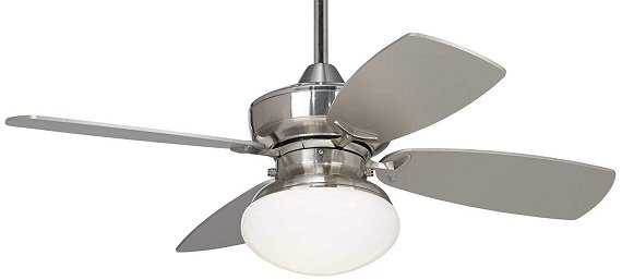 Casa Vieja 36-inch Brushed Nickel Ceiling Fan