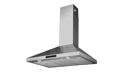 Kitchen Bath Collection STL75-LED Stainless Steel Wall-Mounted Kitchen Exhaust Fan