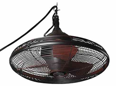 Allen + Roth 20 Inch Bronze Caged Outdoor Ceiling Fans
