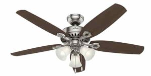 Hunter 53237 Indoor Ceiling Fan with light and pull chain control