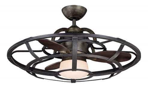 Savoy House Downrod Mount Low Profile Caged Ceiling Fan