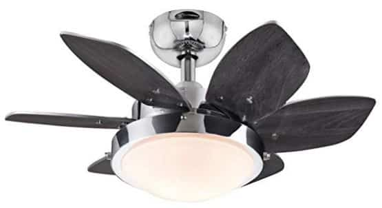 Westinghouse Quince Chrome Ceiling Fan for Bunk Beds