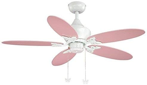 AireRyder FN44322W Nursery White Cream Ceiling Fan with Light