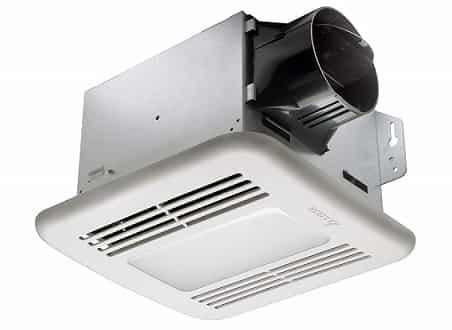Delta BreezGreenBuilder bathroom Fan and Dimmable LED Lights Combo