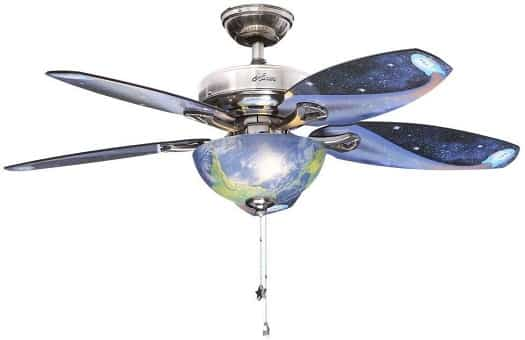 Hunter Space Discovery Ceiling Fan with Earth Light & Moon Blades