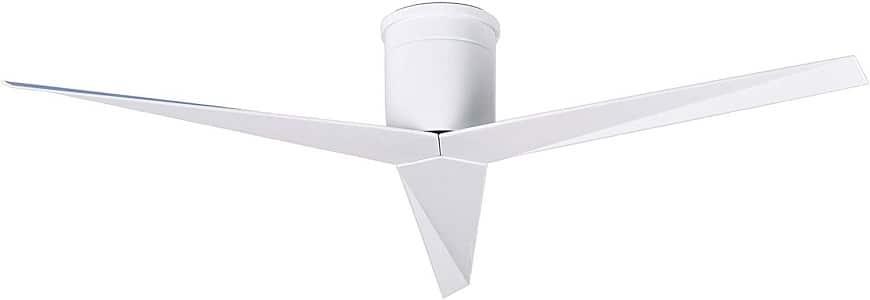 Matthews EKH-WH-WH Eliza 56 Modern Outdoor Hugger Ceiling Fan
