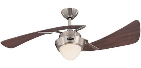 Westinghouse Harmony Brushed Nickel 2 Blade Ceiling Fan with Light