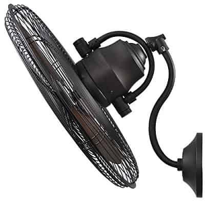 Allen + Roth 3-Speed Oscillation Indoor Outdoor Wall mount Fan