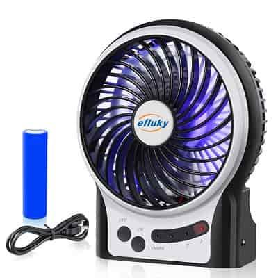 littlest battery-fueled fan
