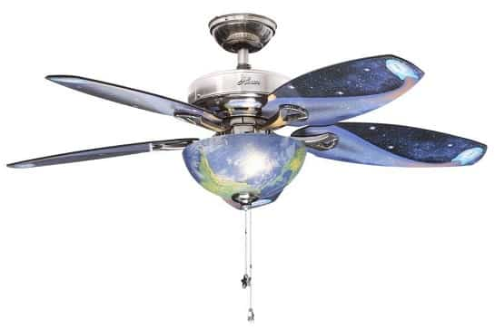Hunter Space Discovery Brushed Nickel Ceiling Fan