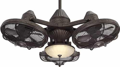 Esquire Solid Bronze 3-Head LED Ceiling Fan