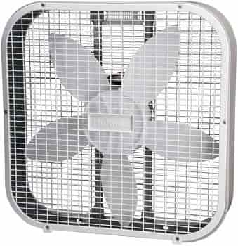 Holmes White 3 Speed Box Fan for White Noise