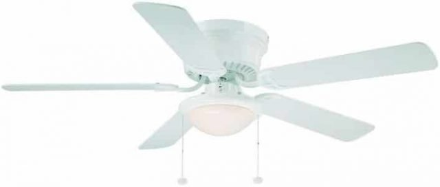 Hampton Bay White Hugger Cheap Ceiling Fan with Light