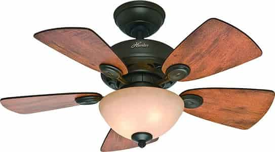 Hunter 52090 Dark Finish Cheap Ceiling Fan with light