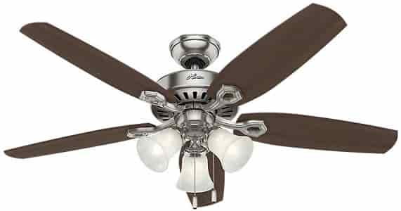 Hunter Builder Plus Ceiling Fan with light and pull chain control