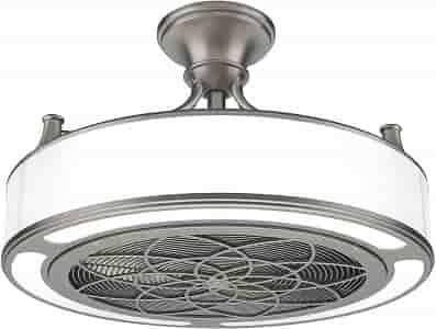 Stiles Anderson CF0110 Brushed Nickel Enclosed Ceiling Fan