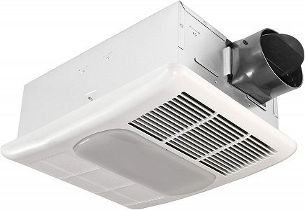 Delta BreezRadiance Exhaust Bath Fan with Light and Heater