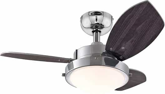 ceiling fan in kitchen