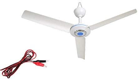 12V DC 28 inch Plug in Ceiling Fan for gazebo