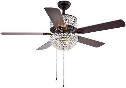 Tiffany CFL-8170BL Laure Crystal 52-inch Ceiling Fan